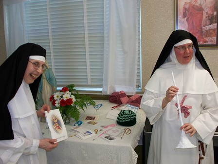 The Prioress feast day table--lots of surprises!